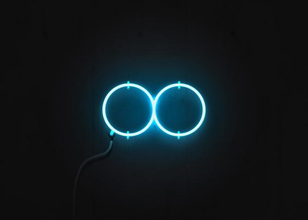Focus Infinity Neon Logo vector art